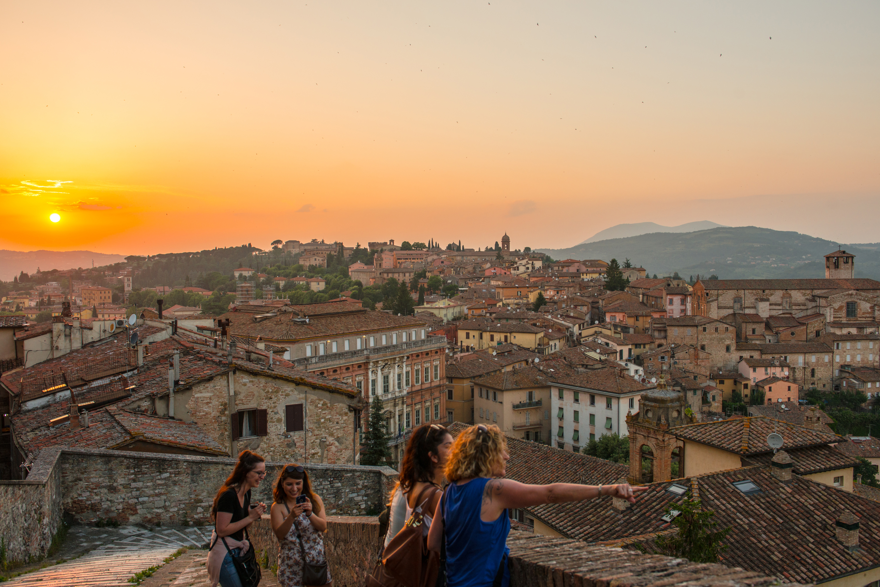 Sunset in Perugia, Italy