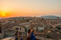 Sunset in Perugia, Italy