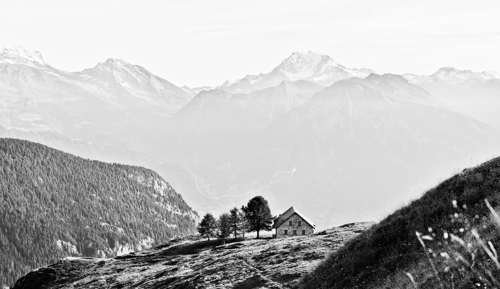 A Small Farmer's house on Swiss Alps