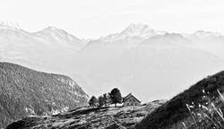 A Small Farmer's house on Swiss Alps