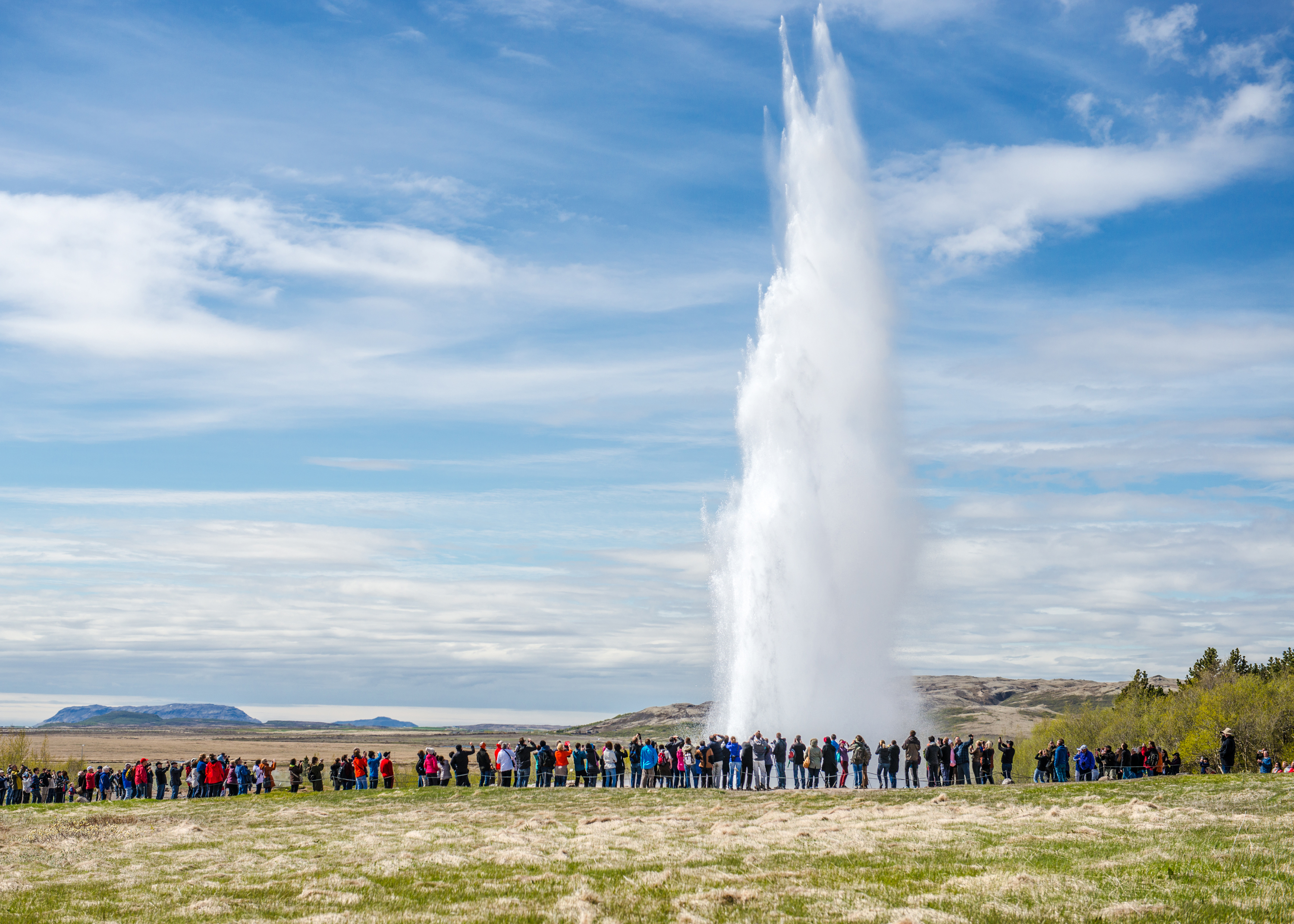 Geysir and the Tourists, Iceland
