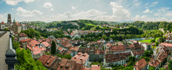 Panorama Fribourg in Switzerland