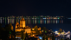Spiez by Thunersee in evening