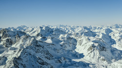 view from higher than the Swiss alps