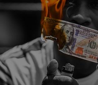 Burning money - smoking burns money