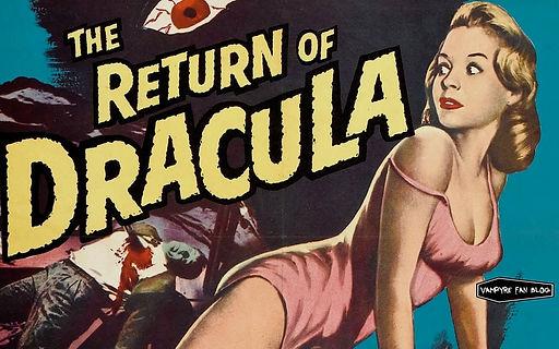the return of dracula vintage movie poster vampire