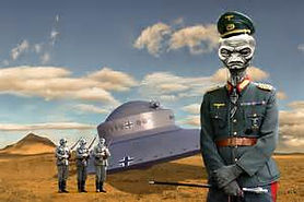 nazi ufo with alien