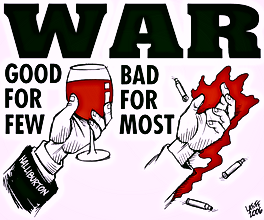 war good for few bad for most