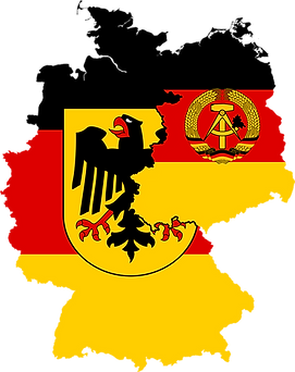 west germany east germany flag map 1948 1990