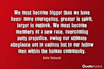 We Must Become Bigger Than We Have Been