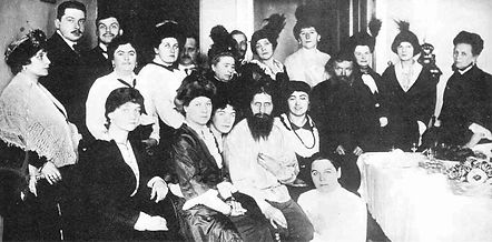 father grigori efirmovich rasputin with his adoring women
