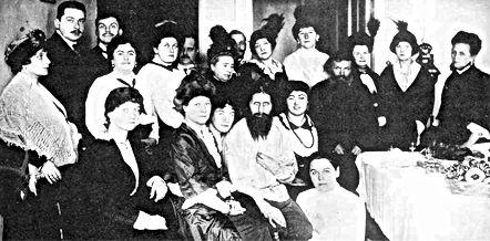 father grigori efirmovich rasputin with his adoring women