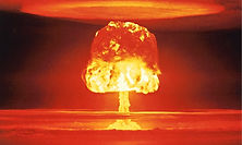 iconic nuclear bomb mushroom cloud