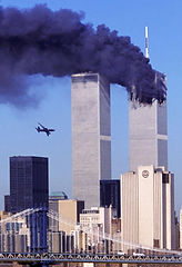 twin towers passenger aircraft flys into building