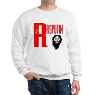 white RASPUTIN QUALITY SWEATSHIRT
