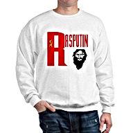 white RASPUTIN QUALITY SWEATSHIRT