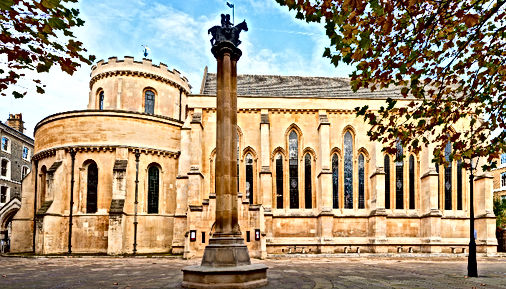 Temple Church (London) of the Knights Templar, Commandery headquarters.