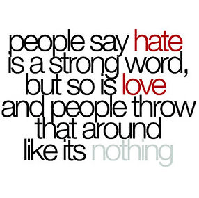 People Say Hate