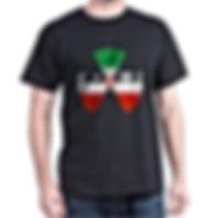 IRAN NUCLEAR E=MC2 FLAG black T SHIRT
