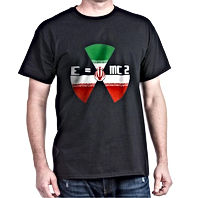 IRAN NUCLEAR E=MC2 FLAG black T SHIRT