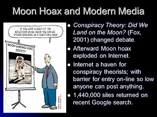 moon hoax and modern media