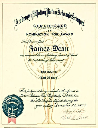 James Dean Nomination For A Oscar