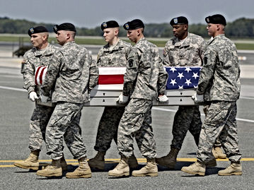 american brave war dead returning home