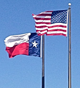 usa flag texas flag