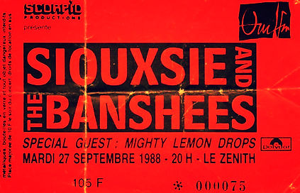 siouxsie the banshees 1988 the mighty lemon drops