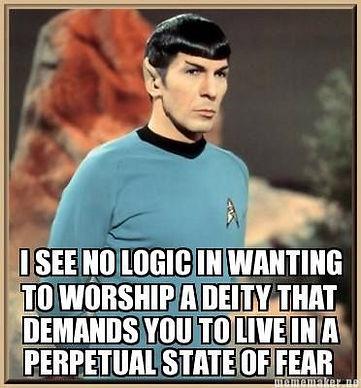 Spock No Logic Religion