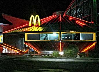 roswell mcdonalds shaped like a ufo