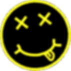 nirvana pissed drugged smiley face logo