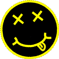 nirvana pissed drugged smiley face logo