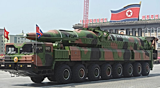 north korean land missile beleived to be a taepodong