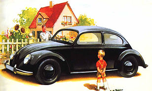 adolf hitlers volkswagon beetle