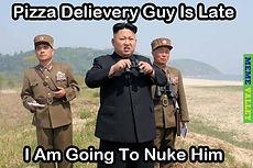 kim jong un pizza delivery late