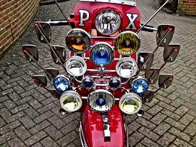 mod vespa px scooter fully loaded