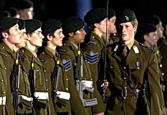 prince harry eton cadet parade commander of guard of honour 2002