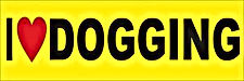 i love dogging bumper sticker