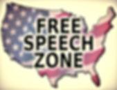 usa america free speech zone