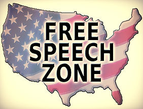 usa america free speech zone