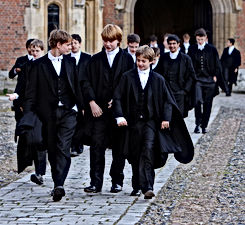 Pupils at Eton College, a traditional bastion of Britain's ruling classes.
