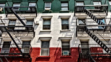 little italy nyc italy flag building