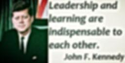 leadership and learning jfk