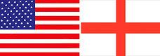 usa england flag banner