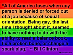 bill clinton lgbt rainbow flag
