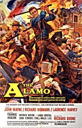 the alamo movie poster john wayne richard widmark frankie avalon richard boone