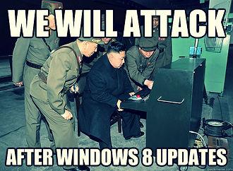 kim jong un windows 8 updates