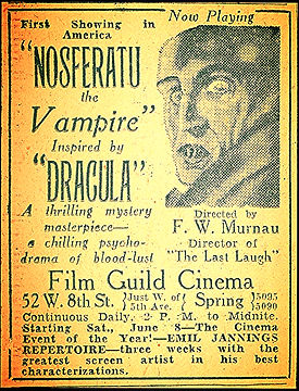 nosferatu inspired by dracula a chilling psycho drama of blood lust