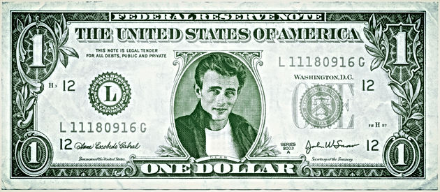 James Dean 1 Dollar Bill